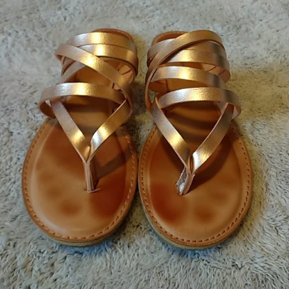 6540cc87468a7b Zigi Rock   Candy Rose Gold Strappy Sandals Size 9.  M 5a677d6c077b977cd3fb44a4